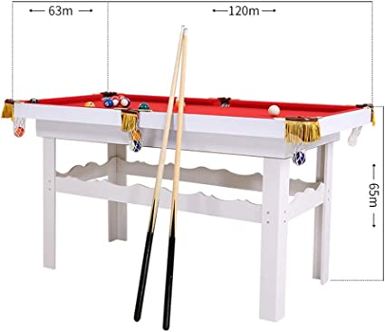 LiPengTaoShop Mini mesas de Billar Mesa De Billar Hogar para Niños, Adultos, Padres E Hijos, Mesa De Billar, Mini Billar Estándar, Pequeña Mesa De Bolas De Madera (Color : Red, Size :