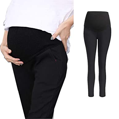e735eb9747291 mama stadt Maternity Stretch Trousers,Maternity Tights Thermal,Belly Band  for Pregnancy Pants Extender,Maternity Leggings Over Bump Winter,Pregnancy  ...