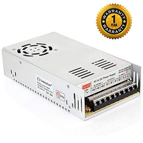 SUPERNIGHT 12V 30A DC Power Supply Driver,360W Universal Regulated Switching Converter AC 110V/220V Transformer Adapter for 3D Printer,CCTV,Radio,Computer Project,Industrial Automation,LED Strip