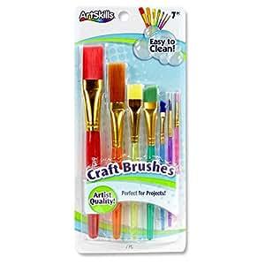 ArtSkills Craft Paint Brushes, Assorted Sizes, 7/Pack (PA-1206)