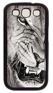 Mad LionCustom Samsung Galaxy S3 I9300 Case Cover Polycarbonate Black