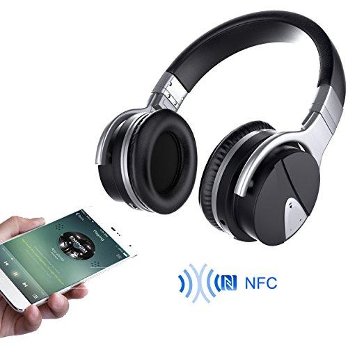 USTEK Wireless Headphones, Active Noise Cancelling Headphones Bluetooth Headphones with Mic Deep Bass Wireless Headphones,Over Ear Bluetooth Stereo Headphones with Microphone Adjustable Earphones ANC by USTEK (Image #2)