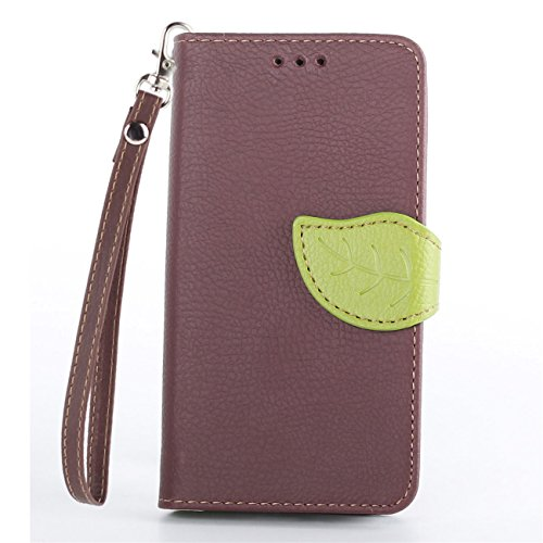 Moto G 1st Case,IVY Brown - Leaves Magnetic Snap Series Wallet Card Flip Synthetic Holster Leather Stand With Lanyard Case Cover Skin For Motorola Moto G 1st Gen (XT1045 / XT1032 / XT1033)