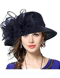 2a5ff222b24 Lady Derby Dress Church Cloche Hat Bow Bucket Wedding Bowler Hats