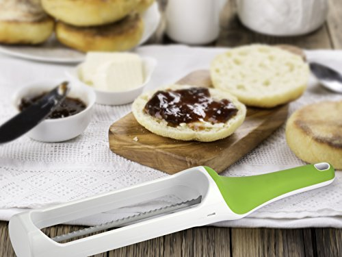 Urban Trend Hometown Bagel Knife - Safely and Effortlessly Slices Bagels, Baguettes, Biscuits, Croissants, Dinner Rolls, English Muffins, and Buns Without Fear of Cuts and Injury - Dishwasher-Safe by Urban Trend (Image #7)