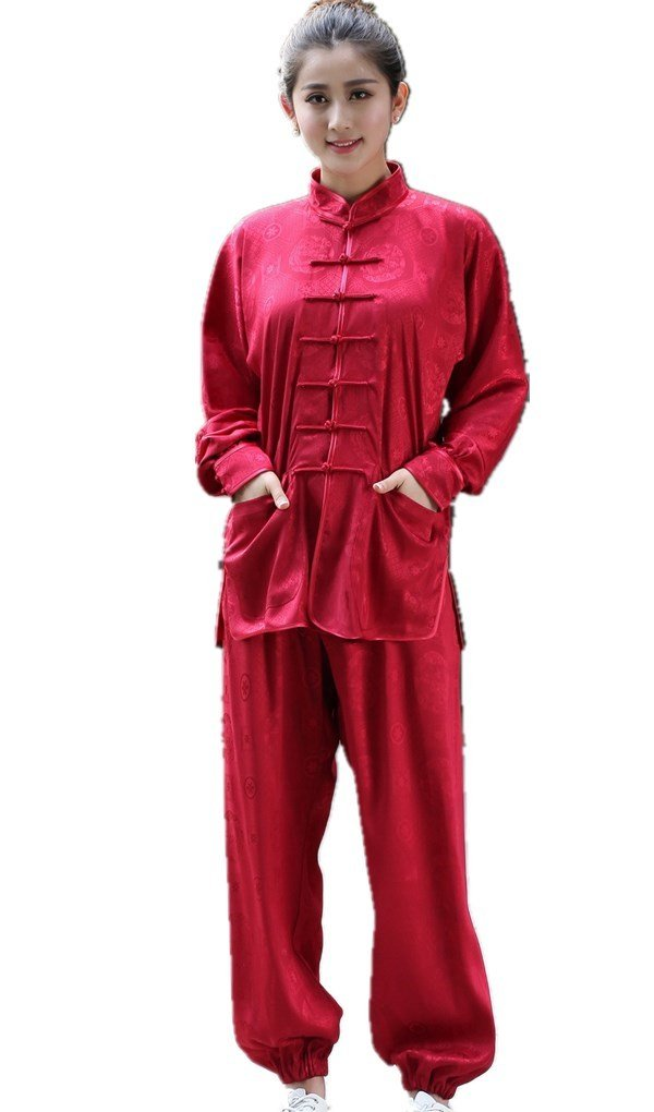 Shanghai Story Martial Arts Women's Tai Chi Uniform Silk Kung Fu Suit 2XL 06 by Shanghai Story