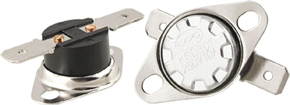 sourcingmap KSD301 70 Celsius Fermeture Normale NC Contr/ôle De Temp/érature Interrupteur Thermostat