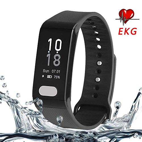 Cocofit EKG/ECG Fitness Tracker, Activity Tracker with Heart Rate Monitor, Blood Pressure Monitor, Waterproof Smart Wristband with Step Tracker, Calorie Counter, Pedometer Watch for Kids Women Men