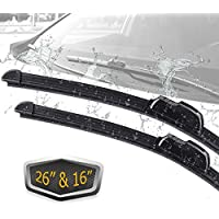 2-Pack CarbonLand Windshield Wiper Blades Universal (26