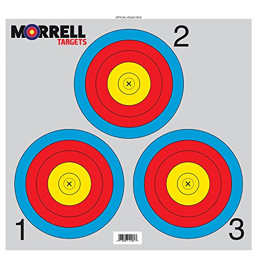 Morrell 3 Spot Paper Face Target 100 Pack - for Retail Stores or Paper Tuning