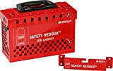 Brady 145579 Group Lockout Box, Powder-Coated Steel, 6.7'' Height x 9.5'' Weight, Red/Black
