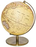Globe of the world with raised-relief & bronze base 10''