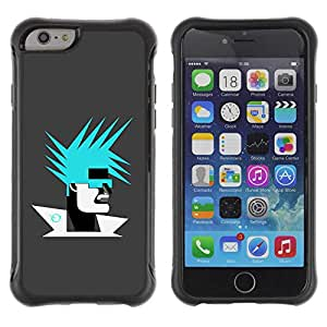 """Planetar® ( Abstract Portrait ) 4.7"""" iPhone 6 Hybrid Heavy Duty Shockproof TPU Fundas Cover Cubre Case"""