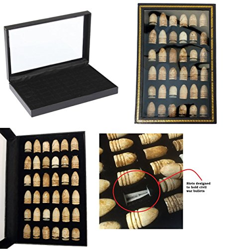 Epic Gear Civil War Bullet Relic Display Case - Hold 36 Civil War Bullets (Bullets NOT Included)