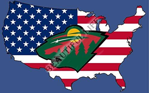 Beautiful Life NHL Sign Hockey Sports Fan Exclusive Flag (Minnesota Wild)