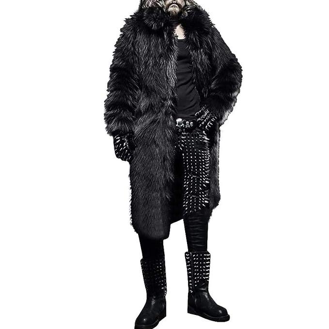 Longra 2018 Chaqueta Larga de Abrigo de Invierno de la Chaqueta del Abrigo de Piel sintética más Gruesa de Invierno para Hombre: Amazon.es: Ropa y ...