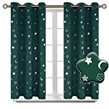 BGment Moon and Stars Blackout Curtains for Kids