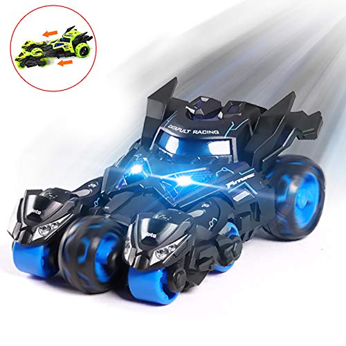 Wowok 3 in 1 Car Launcher Toys Set, Die-cast Pull Back Car Catapult Motorcycle Race Car Trinity Chariot Vehicles Playset Educational Preschool for Kids Children Birthday Party Favors - 1 Race Car Toy Diecast