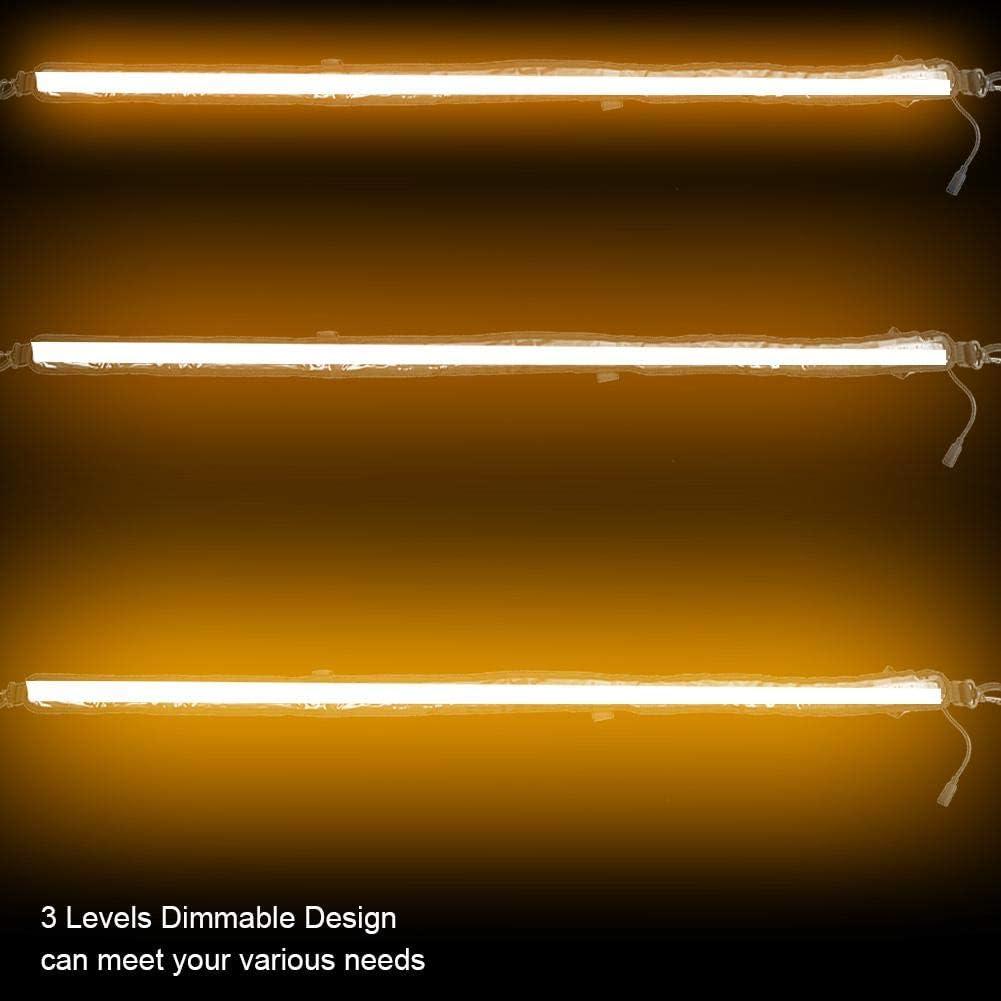 Neufday 12V Amber Color Lighting Dimmable LED Car Motorbike Camping Warning Light Tent Light Bar Strip Dimmable LED Camping Light Flexible Strip
