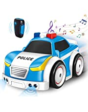 Police Car,Vehicles Toy Car with Light and Sounds,2.4GHZ Toddler Car Toy with Remote Control/Track/Follow/Obstacle Avoidance Modes for 3+ Years Old Child Kids Boys Girls
