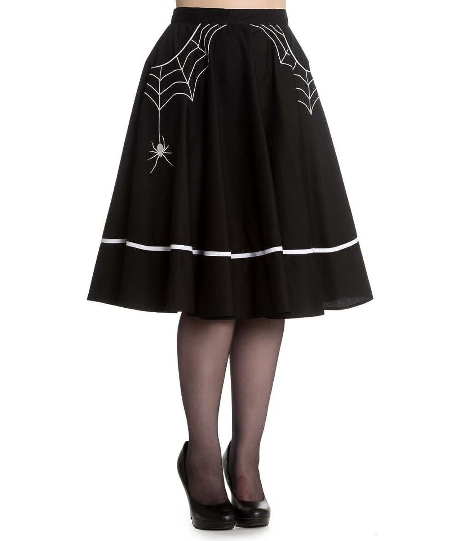 Vintage Retro Halloween Themed Clothing Hell Bunny Miss Muffet Black Spider 50s Skirt $52.00 AT vintagedancer.com