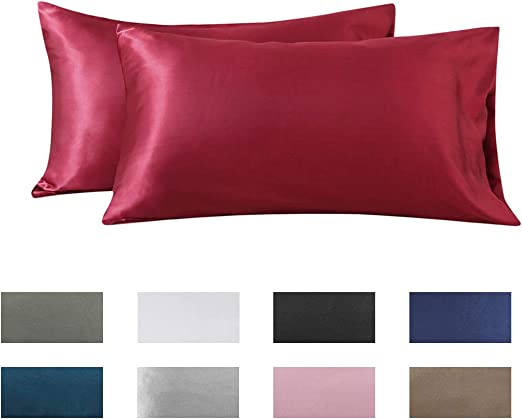 US Size Polyester Pillow Cases Cover Pillowcases Standard Queen 9 Solid Colors