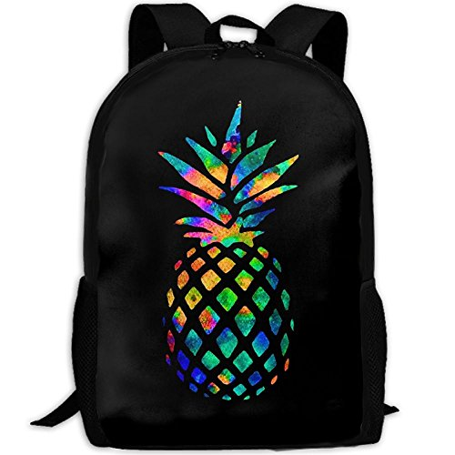 Cool Pineapple Colorful Unique Outdoor Shoulders Bag Fabric Backpack Multipurpose Daypacks For Adult