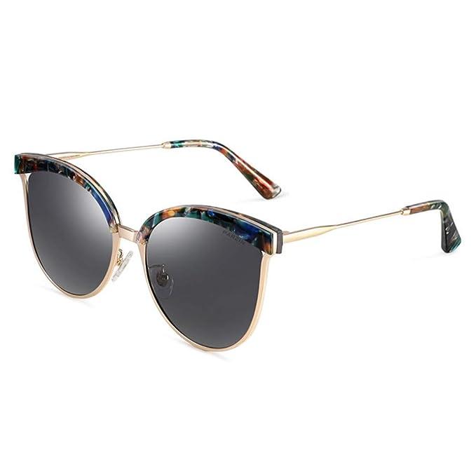 parzinkk Moda Gafas De Sol Polarizadas Placa De Mujer ...
