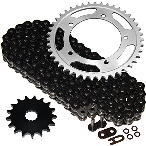 Caltric Black O-Ring Drive Chain & Sprockets Kit Fits SUZUKI 750 GSX-R750 GSXR750 2000-2005