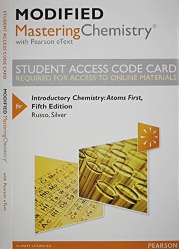 Price comparison product image Modified MasteringChemistry with Pearson eText -- Standalone Access Card -- for Introductory Chemistry: Atoms First (5th Edition)
