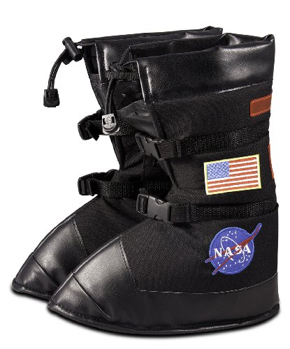 Aeromax Astronaut Boots, size Medium, Black, with NASA patches