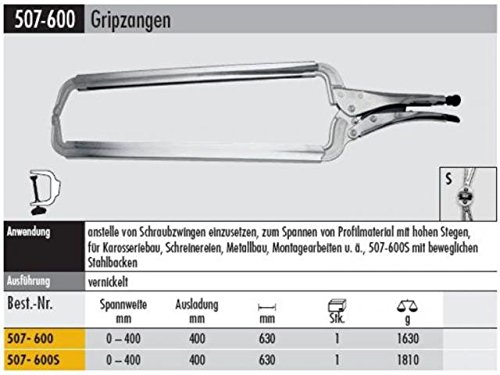 Elora 507106013000 C-Clamp Grip Plier 0-15.75'' by ELORA