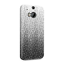 Black Ombre Paint Splash Hard Plastic Phone Case For Htc One M8