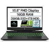 "2020 HP Pavilion 15.6"" FHD Gaming Laptop Computer, 9th Gen Intel Quad Core i5-9300H, 16GB RAM, 256GB SSD+1TB HDD…"