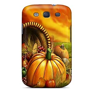 For Galaxy S3 Premium Tpu Case Cover Thanksgiving Protective Case