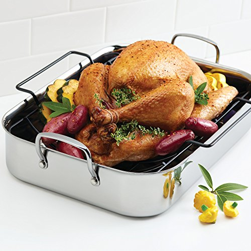 Anolon Stainless Steal Roasting Pan and Rack
