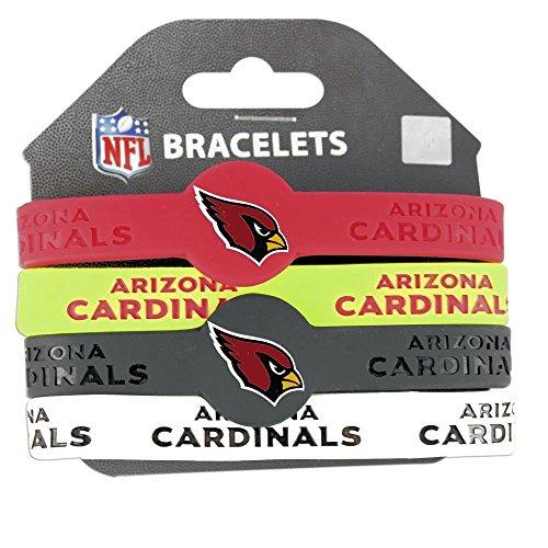 NFL Arizona Cardinals Silicone Bracelets, 4-Pack