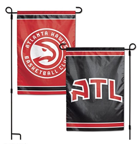 WinCraft NBA Atlanta Hawks 12.5'' x 18'' Inch 2-Sided Garden Flag Logo by WinCraft