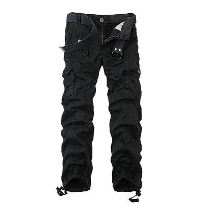 Mesinsefra Men's Multi Pocket Military Army Tactical Cargo Work Pants at Men's Clothing store