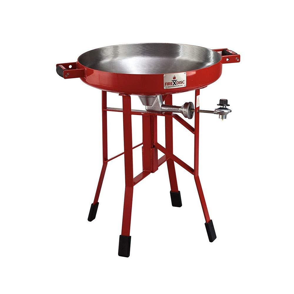 "FireDisc - Deep 24"" Backyard Plow Disc Cooker - Fireman Red 