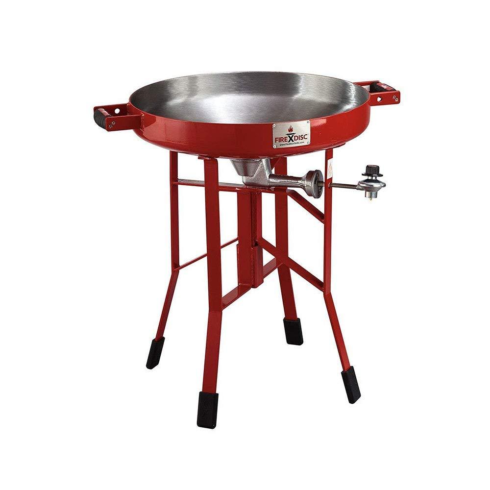FireDisc - Deep 24'' Backyard Plow Disc Cooker - Fireman Red | Portable Propane Outdoor Camping Grill by FireDisc