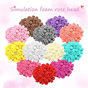 Wffo Artificial Flowers 500PCS Foam Red Rose Flower Gifts for Wedding Birthday Mother's Day Real Looking Real Rose 114