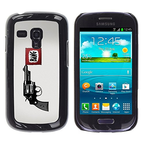 STPlus Bang Pistol Revolver Gun Hard Cover Case for Samsung Galaxy S3 Mini