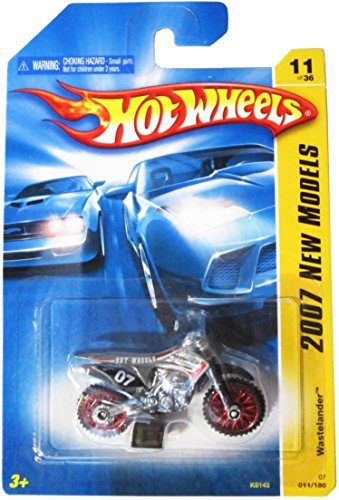 Hot Wheels 2007 New Models Wastelander Dirt Bike Dirtbike Motorcycle Charcoal Gray - Motorcycle Dirt Toy Bike