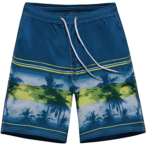 ALiberSoul Men's Quick-drying Boardshorts Tropical Design Swimming Trunks (US S, Style - Styles Suit Bathing Mens