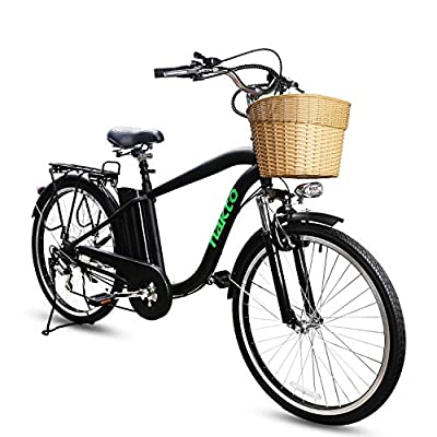 NAKTO Electric Bikes Ebike for Men and Women 26'' Electric Bicycle Comes a Detachable 36V 10Ah Lithium Battery & Battery Charger