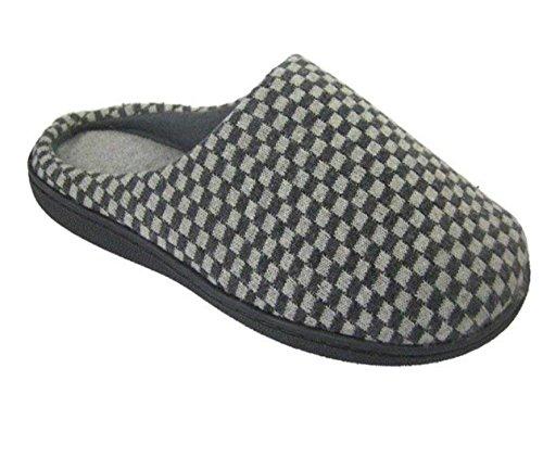 Herren Coolers Mule Slip-On Clogs Hausschuhe Leichtgewicht mit elastischen V Zwickel Größen 41 - 46 EU Grau