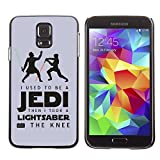 CASETOPIA / Jedi Lightsaber Funny Message / Samsung Galaxy S5 SM-G900 / Black Hard Back Case Cover Shell Armor Protection