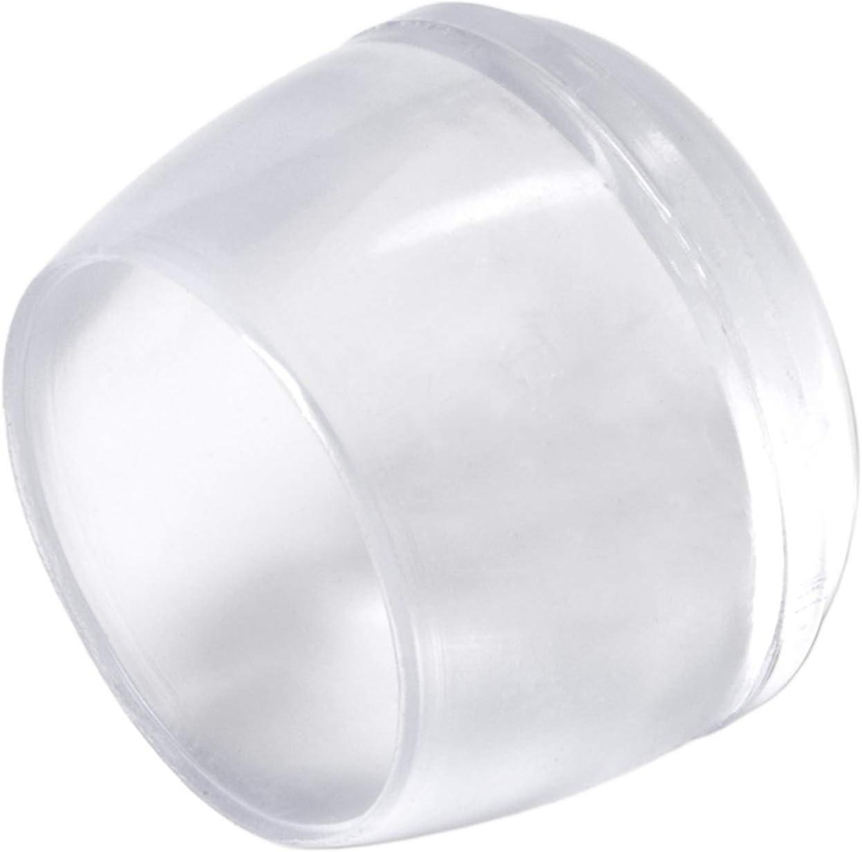 Adsamm/® M/öbelgleiter f/ür Stahlrohrst/ühle rund /Ø 12 mm Transparent 16 x Stuhlbeinkappen