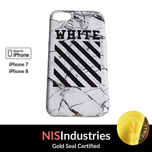 NIS Industries Los Angeles Street Fashion - TPU Flexible Plastic Protective Case/Cover/Skin/Bumper for iPhone 7 and iPhone 8-4.7 Inches (White)